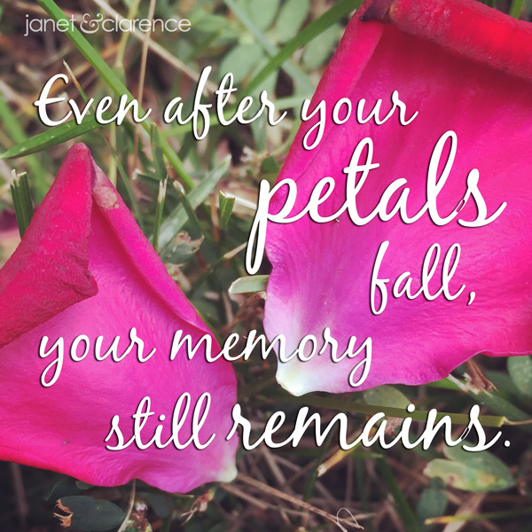 Memorial Quote - Janet & Clarence