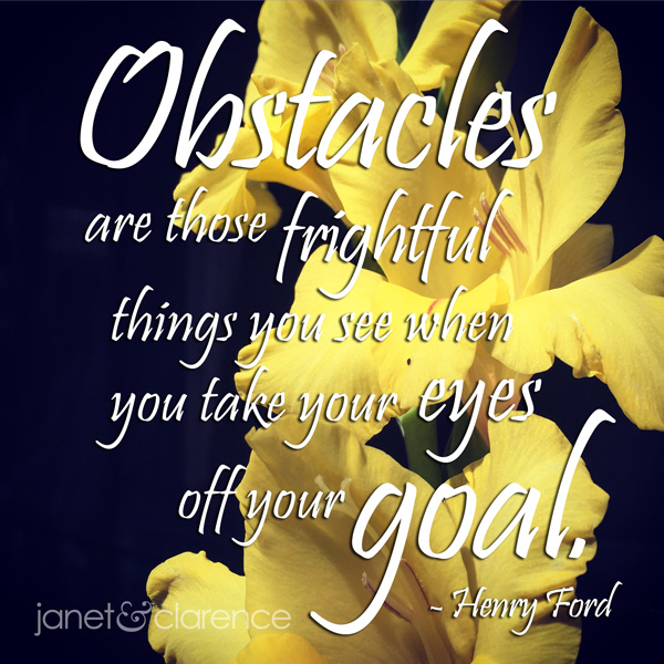 Motivational Meme About Obstacles - janet & clarence