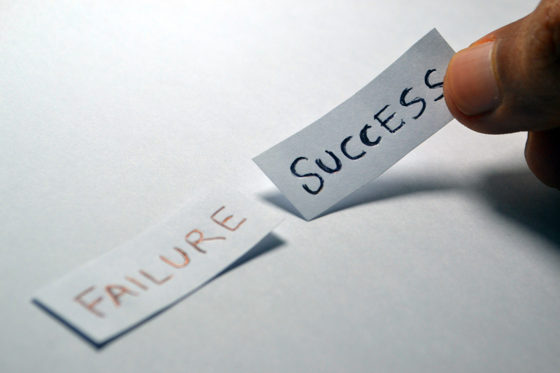 Can Failures Lead to Success